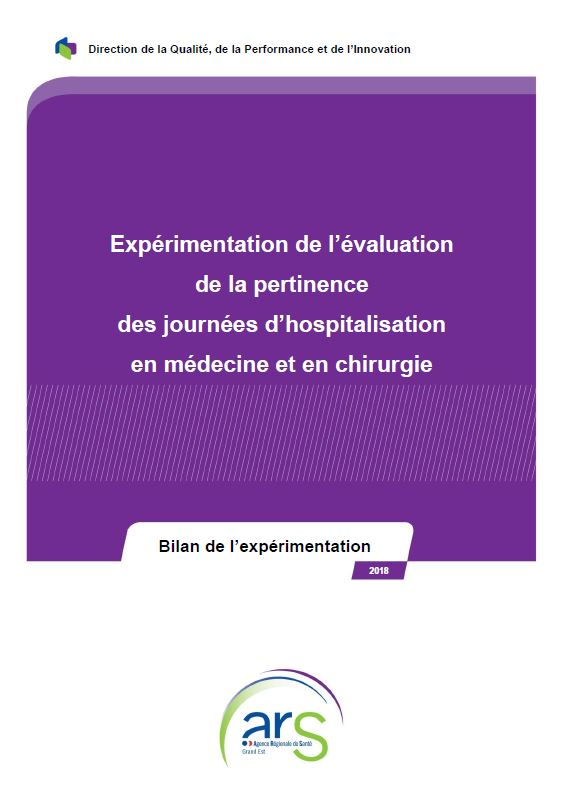 Evaluation pertinence hospitalisation 2018