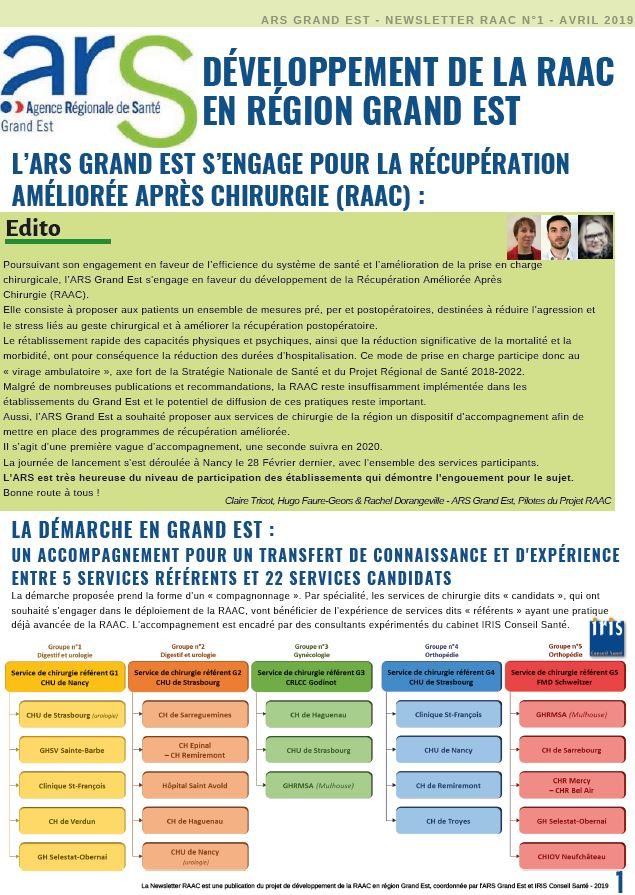 RAAC - Newsletter n° 1