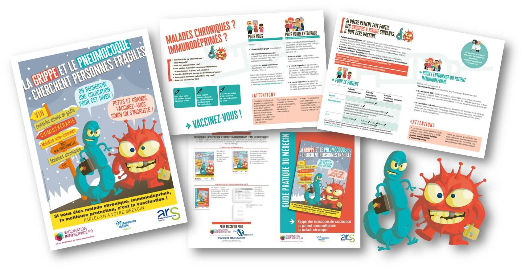 Campagne Vaccination immunodéprimé-Bandeau visuels supports