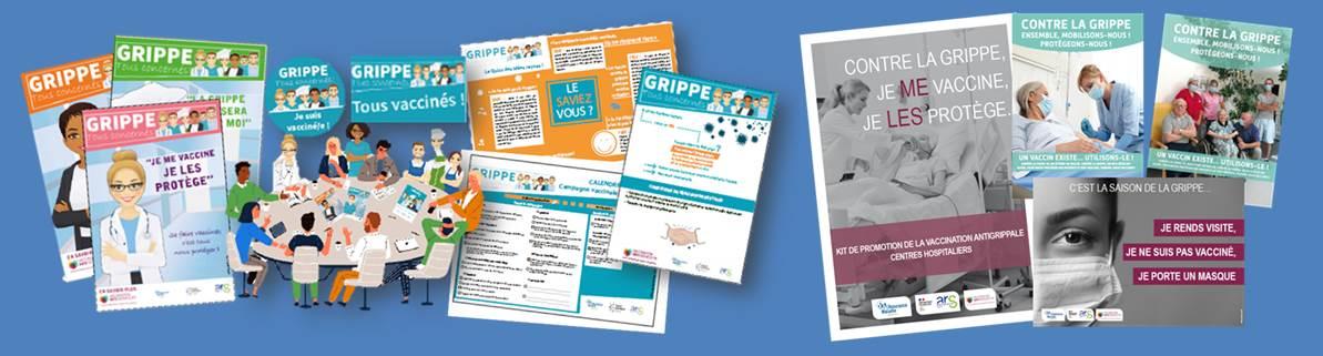 Bandeau KITS com. Vaccination Grippe Covid EHPAD-Etab 2020