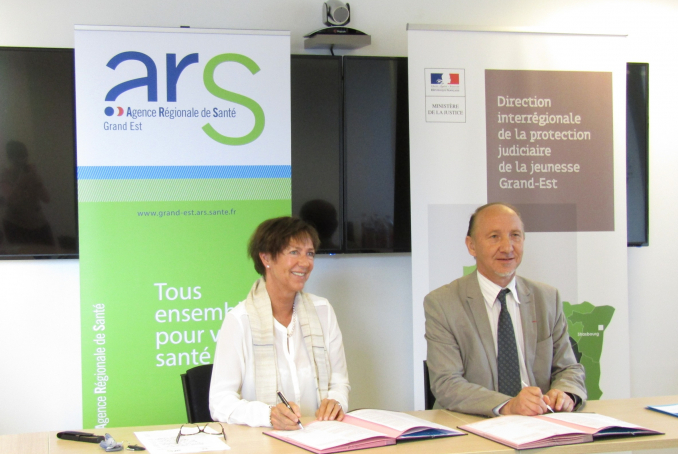 Signataires convention ARS-PJJ 17.1018